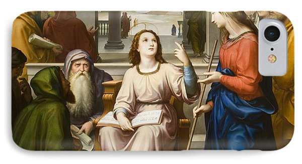 Christ Disputing With The Doctors In The Temple IPhone Case by Franz von Rohden