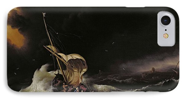 Christ In The Storm On The Sea Of Galilee IPhone Case by Ludolph Backhuysen