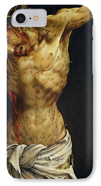 Christ On The Cross IPhone Case by Matthias Grunewald