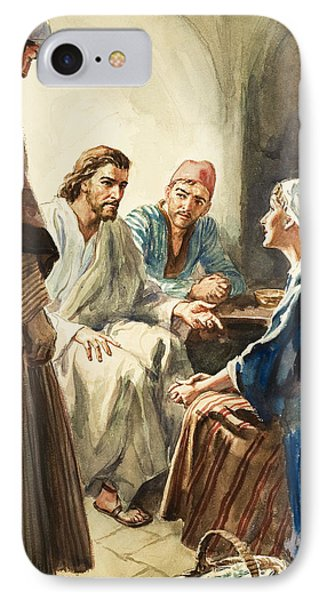 Christ Talking IPhone Case by Henry Coller