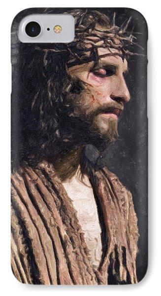 Christ IPhone Case by Taylan Apukovska
