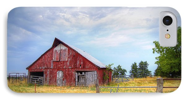 Christian School Road Barn IPhone 7 Case by Cricket Hackmann