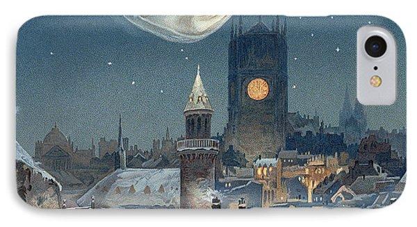 Christmas Card IPhone Case by Thomas Moran