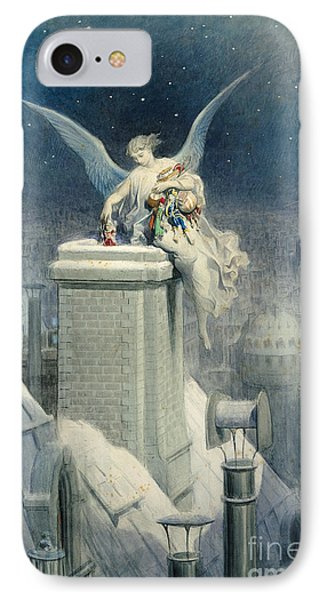 Christmas Eve IPhone 7 Case by Gustave Dore