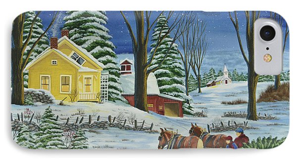 Christmas Eve In The Country Phone Case by Charlotte Blanchard