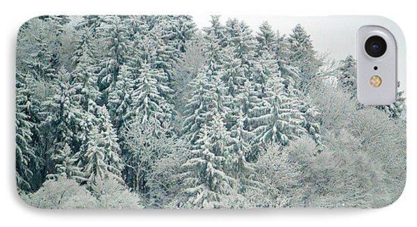 Christmas Forest - Winter In Switzerland IPhone Case by Susanne Van Hulst