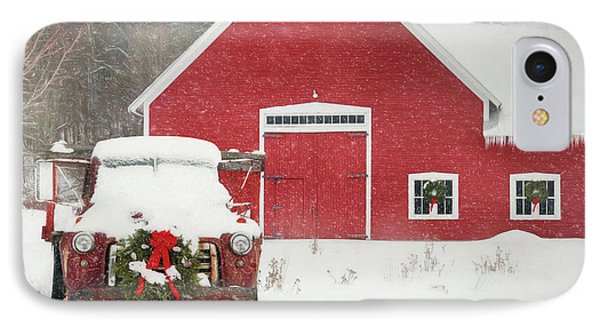 Christmas In Vermont IPhone Case by Lori Deiter
