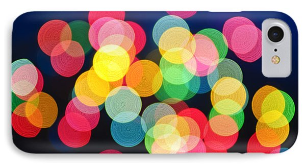 Christmas Lights Abstract IPhone Case by Elena Elisseeva