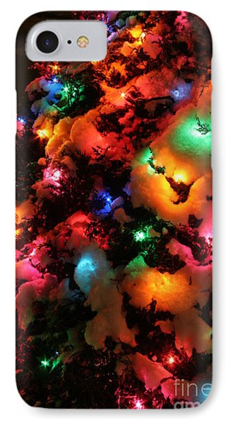 Christmas Lights Coldplay IPhone Case by Wayne Moran