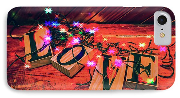 Christmas Love Decoration IPhone Case by Jorgo Photography - Wall Art Gallery