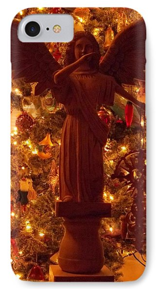 Christmas Night Angel IPhone Case by Anne Cameron Cutri