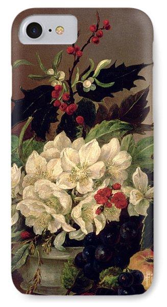 Christmas Roses IPhone Case by Willem van Leen