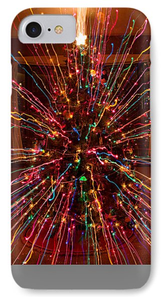 Christmas Tree Colorful Abstract Phone Case by James BO  Insogna