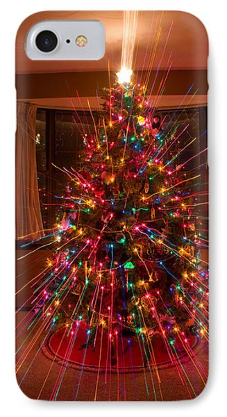 Christmas Tree Light Spikes Colorful Abstract Phone Case by James BO  Insogna