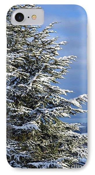 Christmas Tree - Winter In Switzerland IPhone Case by Susanne Van Hulst