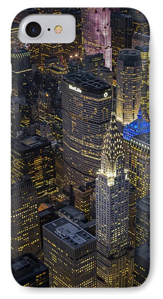 Chrysler Building Aerial View IPhone Case by Susan Candelario