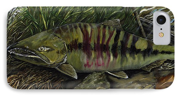 Chum Salmon IPhone Case by Sara Stevenson