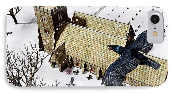 Church Ravens IPhone Case by Peter J Sucy