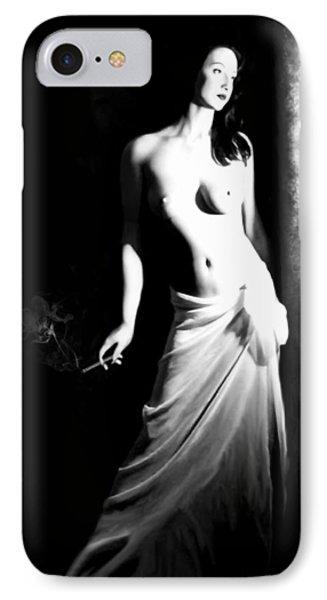 Cigarette Break - Self Portrait IPhone Case by Jaeda DeWalt
