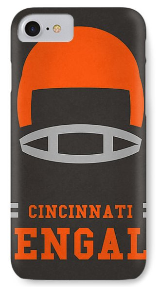 Cincinnati Bengals Vintage Art IPhone 7 Case by Joe Hamilton