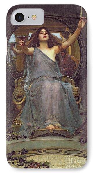 Circe Offering The Cup To Ulysses IPhone Case by John Williams Waterhouse