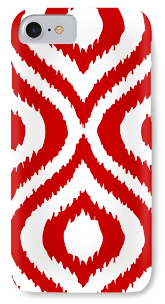 Circle And Oval Ikat In White T02-p0100 IPhone Case by Custom Home Fashions