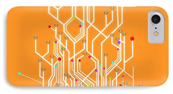 Circuit Board Graphic IPhone Case by Setsiri Silapasuwanchai