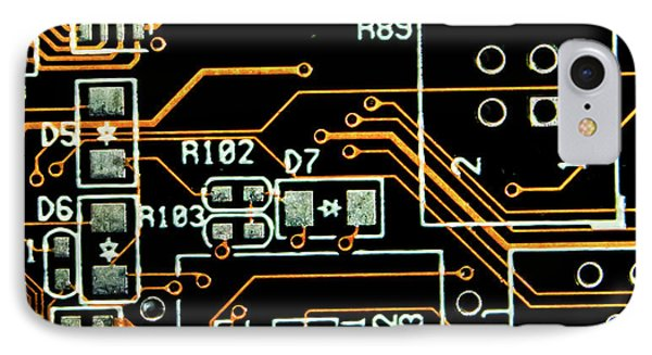 Circuit Board IPhone Case by Martin Newman