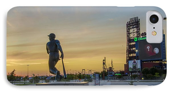 Citizens Bank Park Sunrise IPhone Case by Bill Cannon