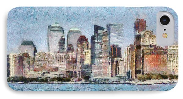 City - Ny - Manhattan Phone Case by Mike Savad