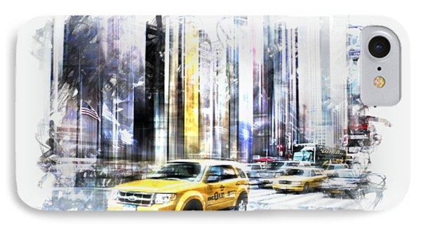 City-art Times Square II IPhone Case by Melanie Viola