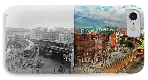 City - Ny - Chatham Square 1900 - Side By Side IPhone Case by Mike Savad