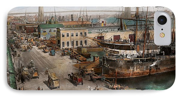 City - Ny - South Street Seaport - 1901 IPhone Case by Mike Savad