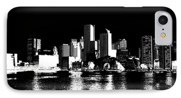 City Of Boston Skyline   IPhone Case by Enki Art