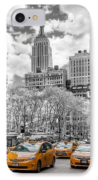 City Of Cabs IPhone 7 Case by Az Jackson
