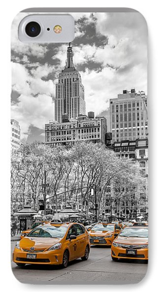 City Of Cabs IPhone Case by Az Jackson