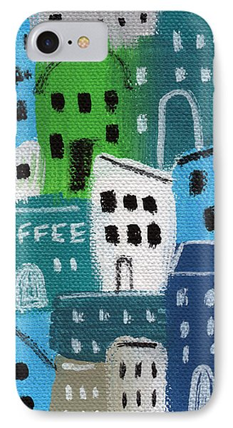 City Stories- Coffee Shop IPhone Case by Linda Woods