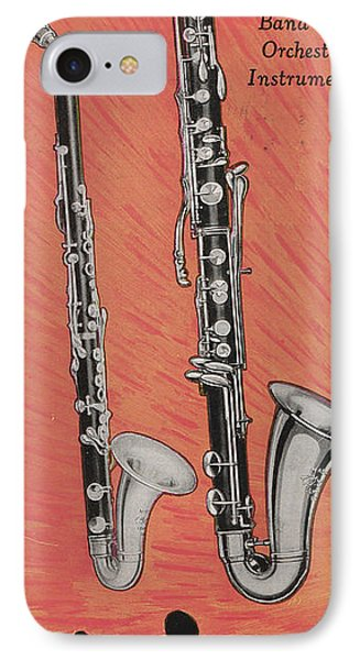 Clarinet And Giant Boehm Bass IPhone Case by American School