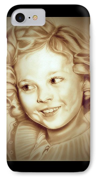 Classic Shirley Temple IPhone 7 Case by Fred Larucci