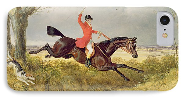 Clearing A Ditch Phone Case by John Frederick Herring Snr