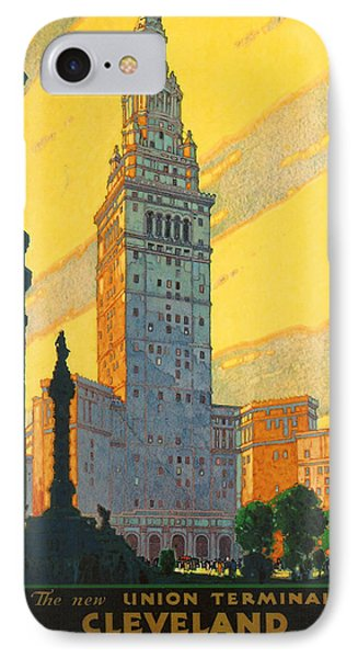 Cleveland - Vintage Travel Phone Case by Georgia Fowler