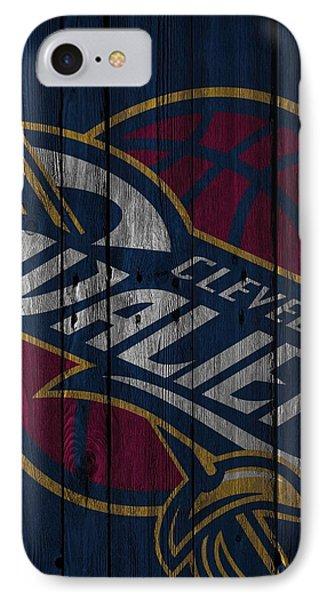 Cleveland Cavaliers Wood Fence IPhone Case by Joe Hamilton