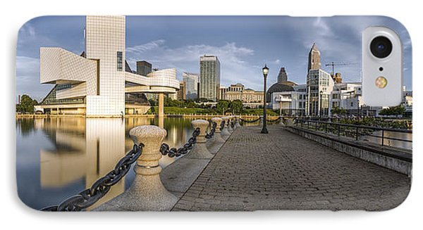 Cleveland Panorama IPhone Case by James Dean