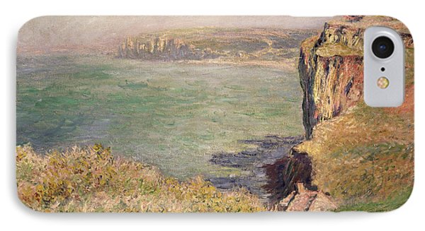 Cliff At Varengeville IPhone Case by Claude Monet