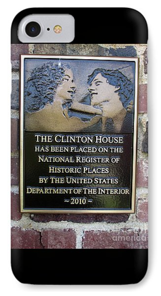 Clinton House Museum 2 IPhone Case by Randall Weidner