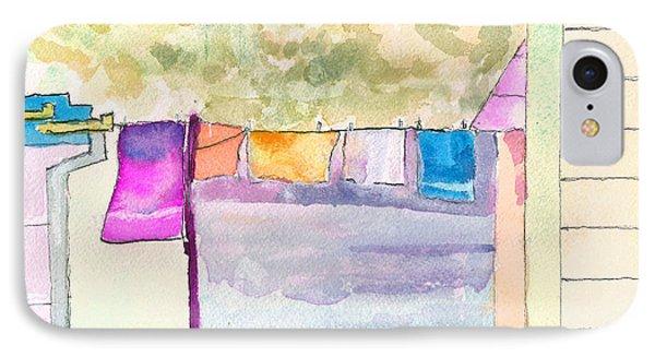 Clothes On The Line IPhone Case by Paul Thompson