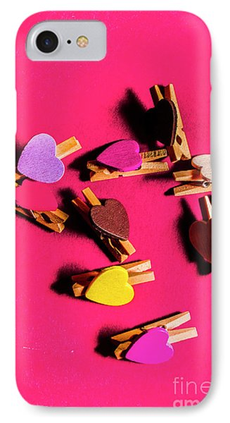 Clothespin Lovers IPhone Case by Jorgo Photography - Wall Art Gallery