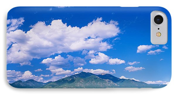 Clouds Over A Mountain Range, Taos IPhone Case by Panoramic Images