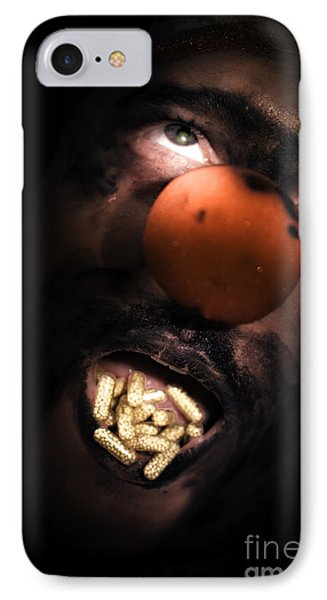 Clown With Capsules In Mouth IPhone Case by Jorgo Photography - Wall Art Gallery