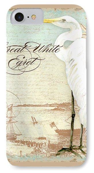 Coastal Waterways - Great White Egret 2 IPhone Case by Audrey Jeanne Roberts